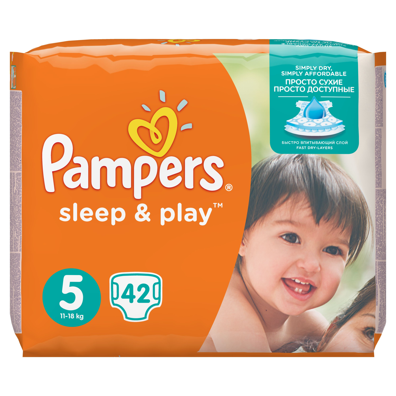 Fotografie Pampers Sleep & Play 5 junior 11 - 18 kg 42 kusů Pampers