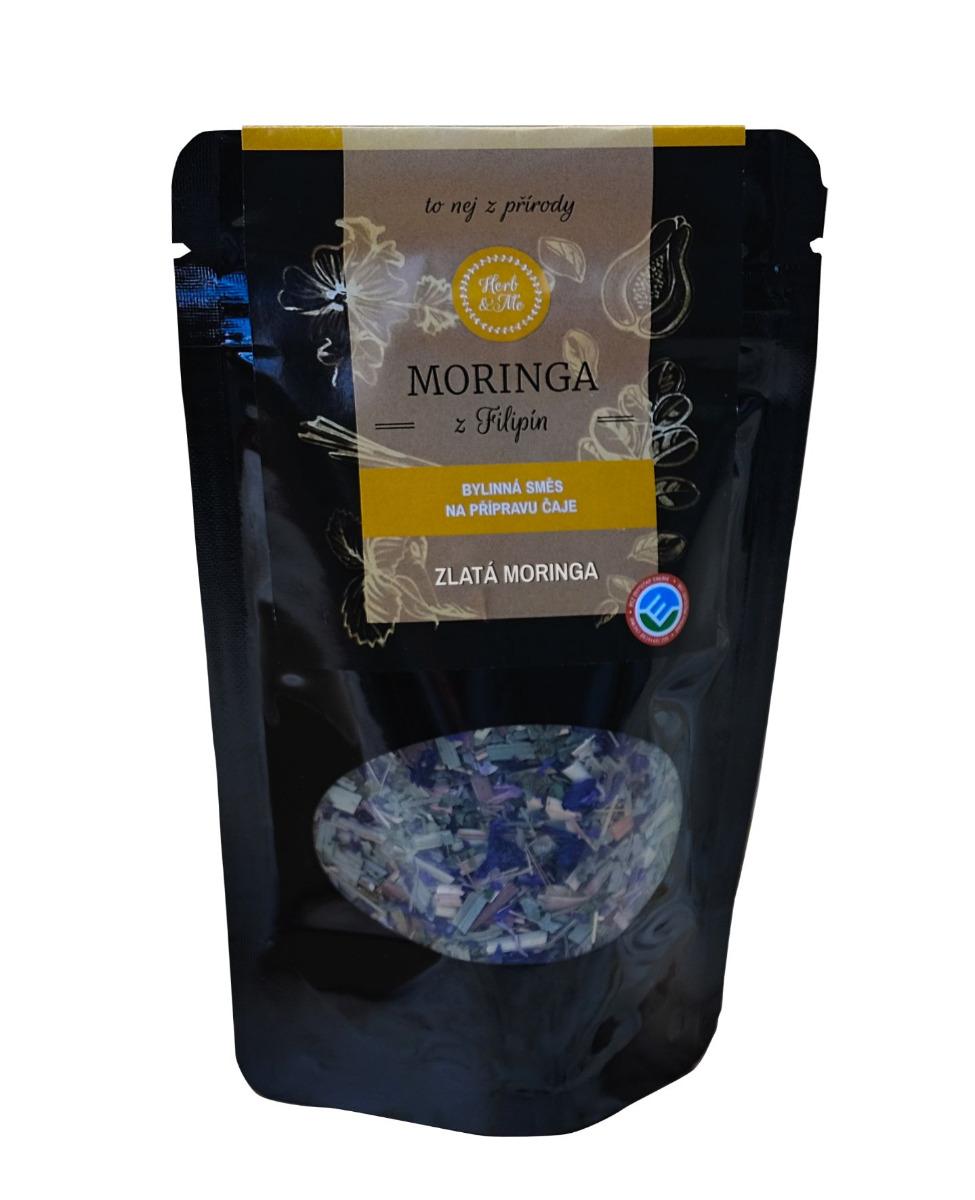 Herb&Me Moringa Čaj Zlatá moringa bylinná směs 50 g