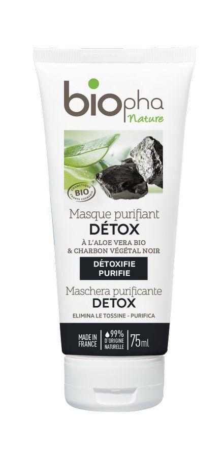 BioPha DETOX Pleťová maska s černým uhlím 75 ml