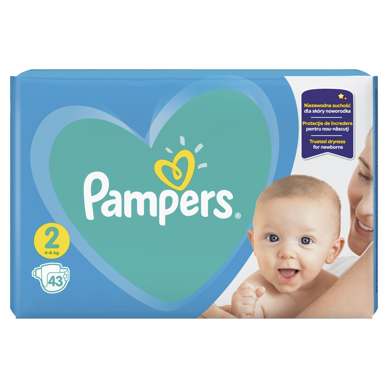 Fotografie Pampers New Baby-Dry vel. 2 Mini dětské pleny 43 ks