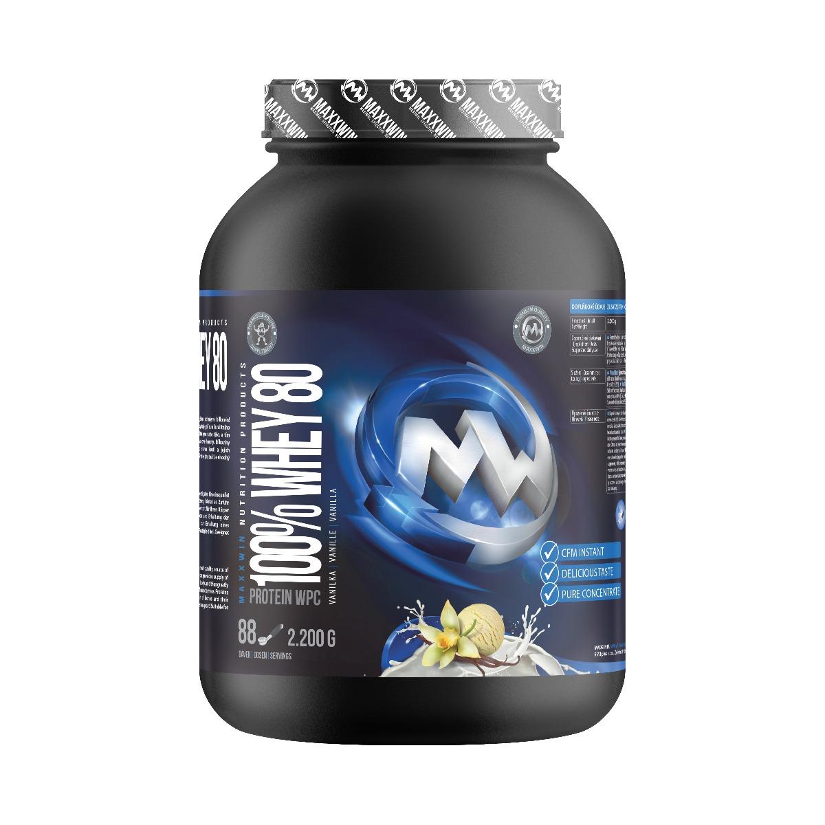 MAXXWIN 100% WHEY 80 vanilka 2200 g