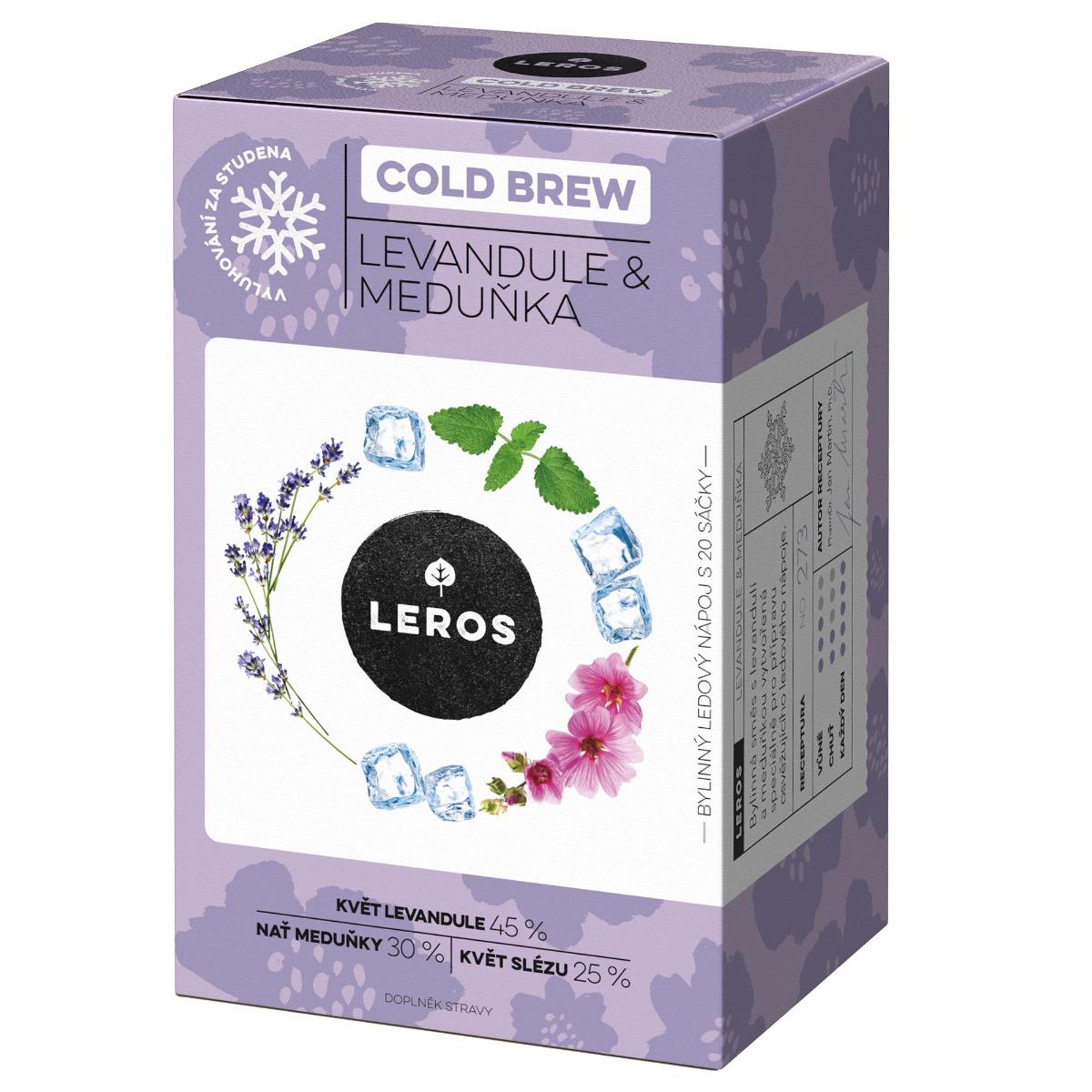 Leros Cold brew levandule & meduňka 20x1 g