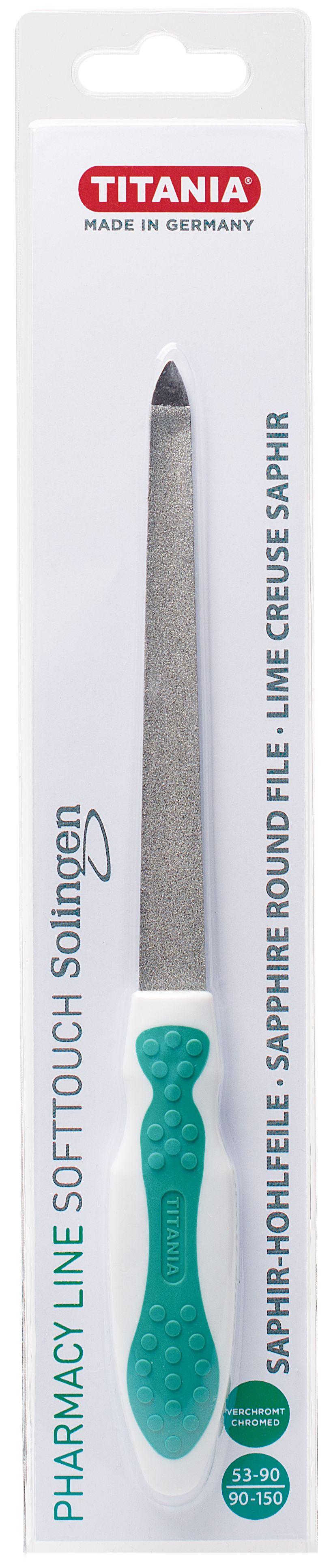 Titania SOLINGEN 1446 PH B safírový pilník na nehty oblý 1 ks