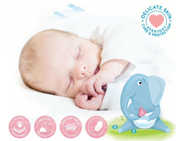 BEBELO Care Diapers Newborn 1 dětské pleny 28 ksa