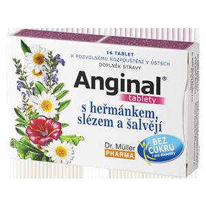 Anginal s heřmánkem a slézem 16 tablet