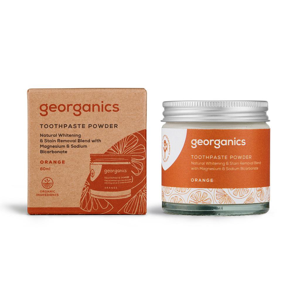 Georganics Pomeranč zubní prášek 60 ml