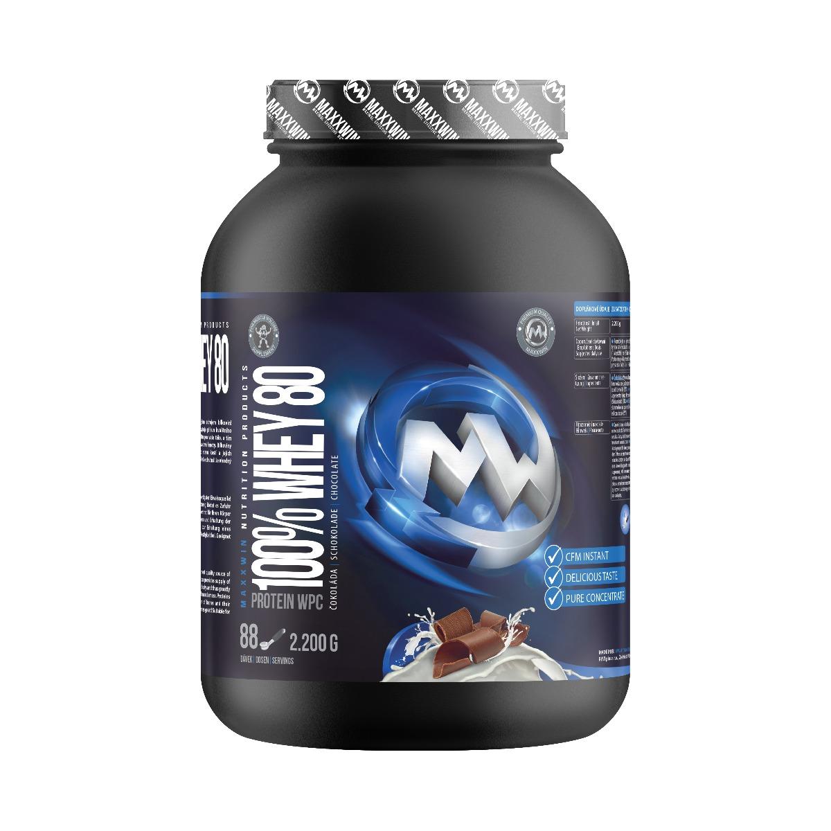 MAXXWIN 100% WHEY 80 čokoláda 2200 g