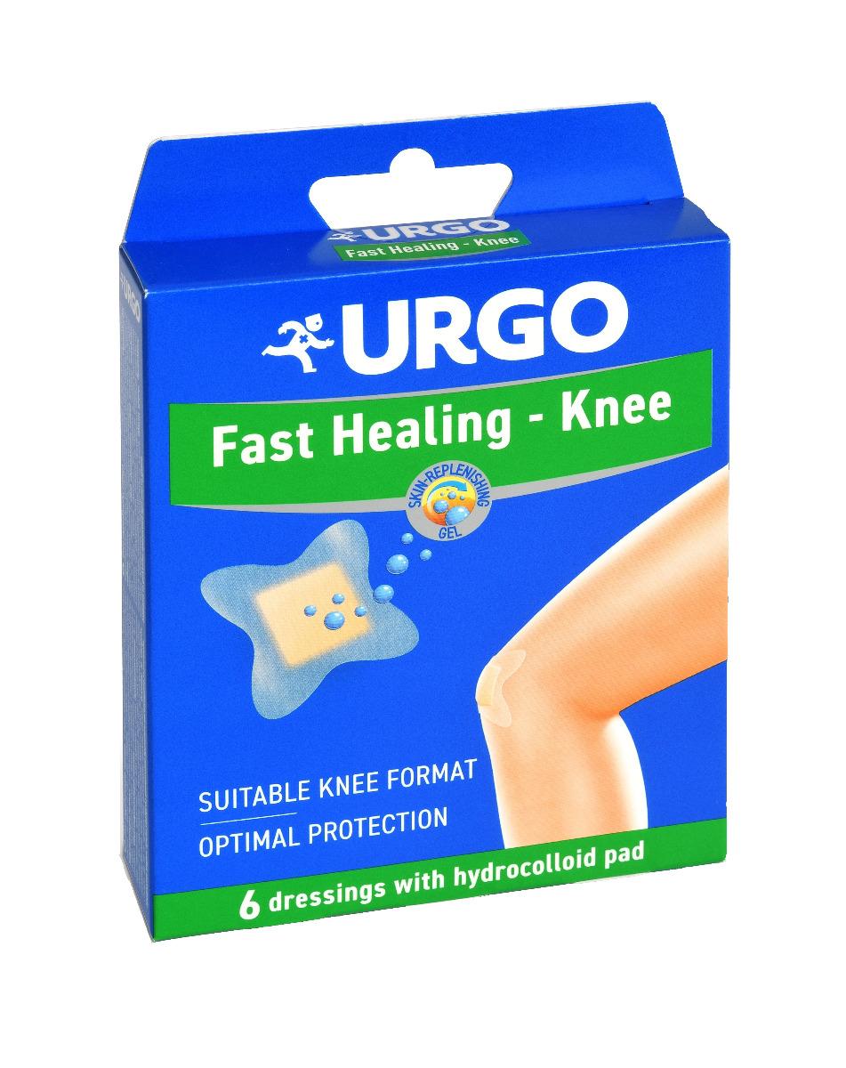 Urgo Fast Healing - Knee hydrokoloidní náplasti 6 ks