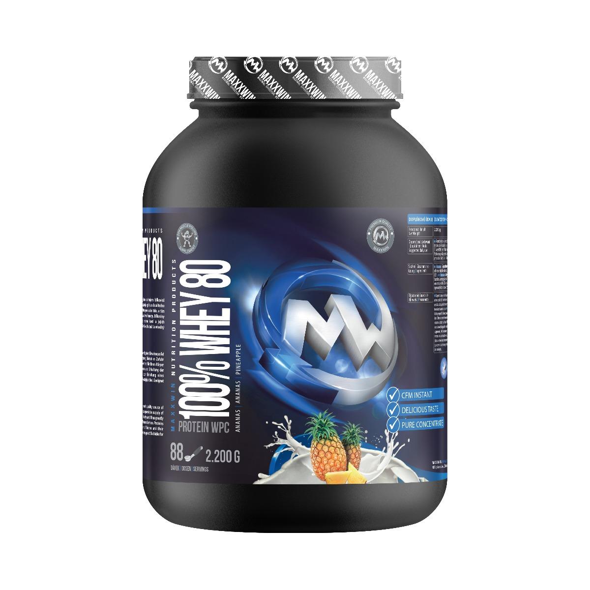 MAXXWIN 100% WHEY 80 ananas 2200 g