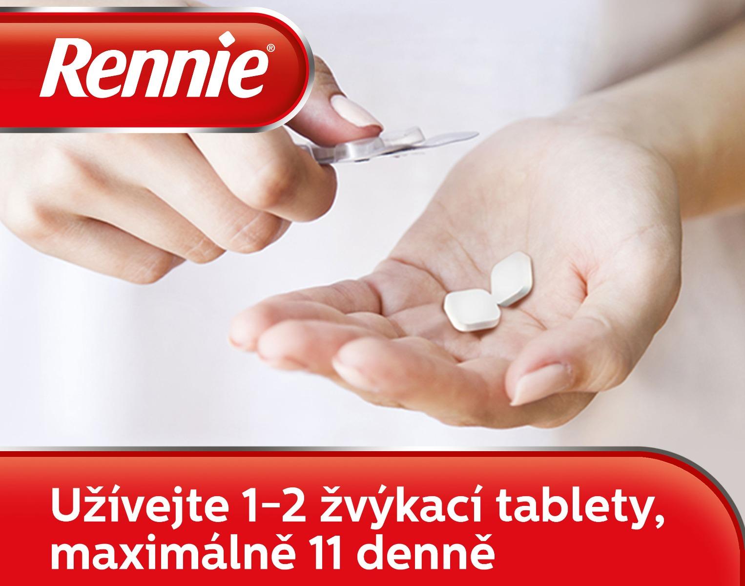 Rennie Spearmint bez cukru 36 žvýkacích tabletaaaaa