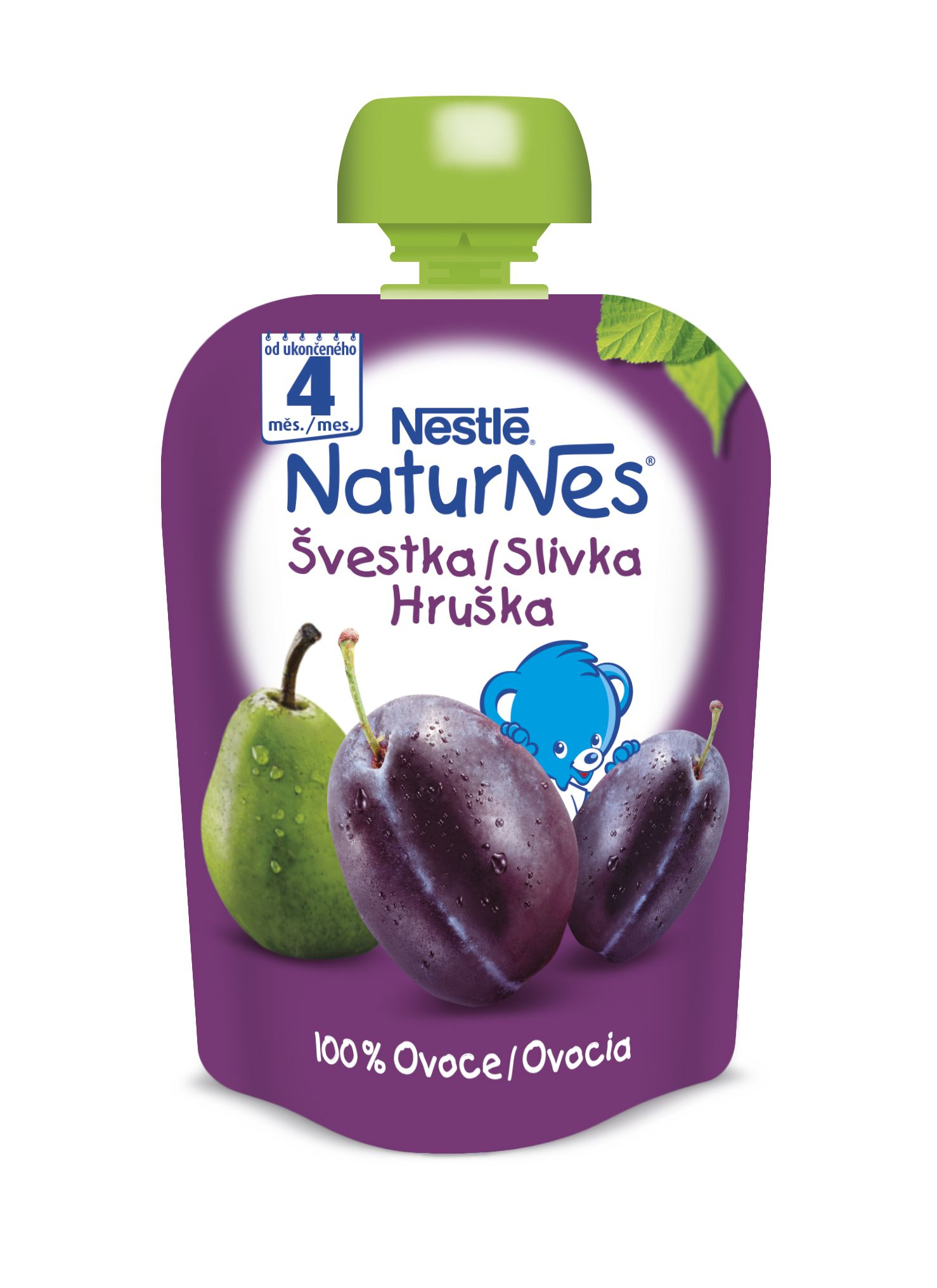 Nestlé Naturnes Švestka hruška kapsička 90 g
