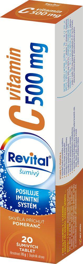 E-shop Revital Vitamin C 500 mg pomeranč 20 šumivých tablet