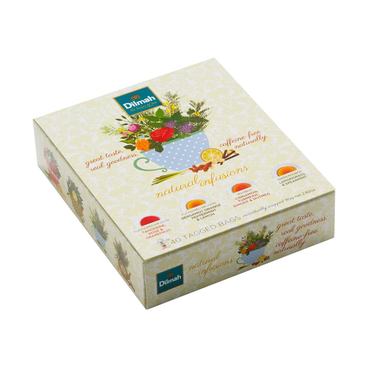 Dilmah Natural Infusions dárkové balení čajů 40x2 g