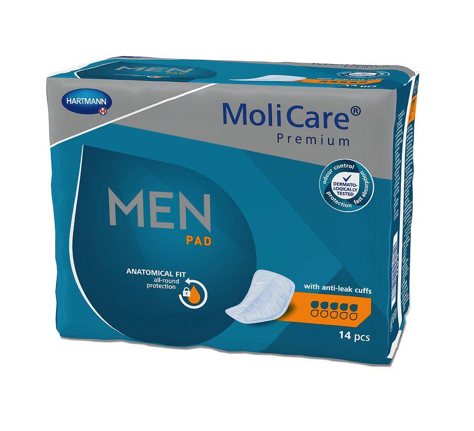 MoliCare Men 5 kapek inkontinenční vložky 14 ks