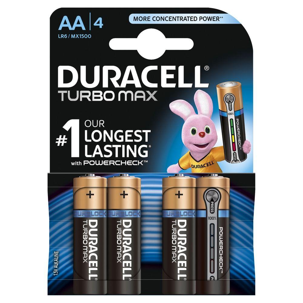 Duracell Turbo Max AA K4 LR6/MX 1500 baterie 4 ks