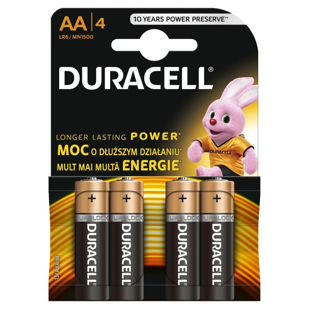 Duracell Basic AA K4 LR6/MN 1500 baterie 4 ks