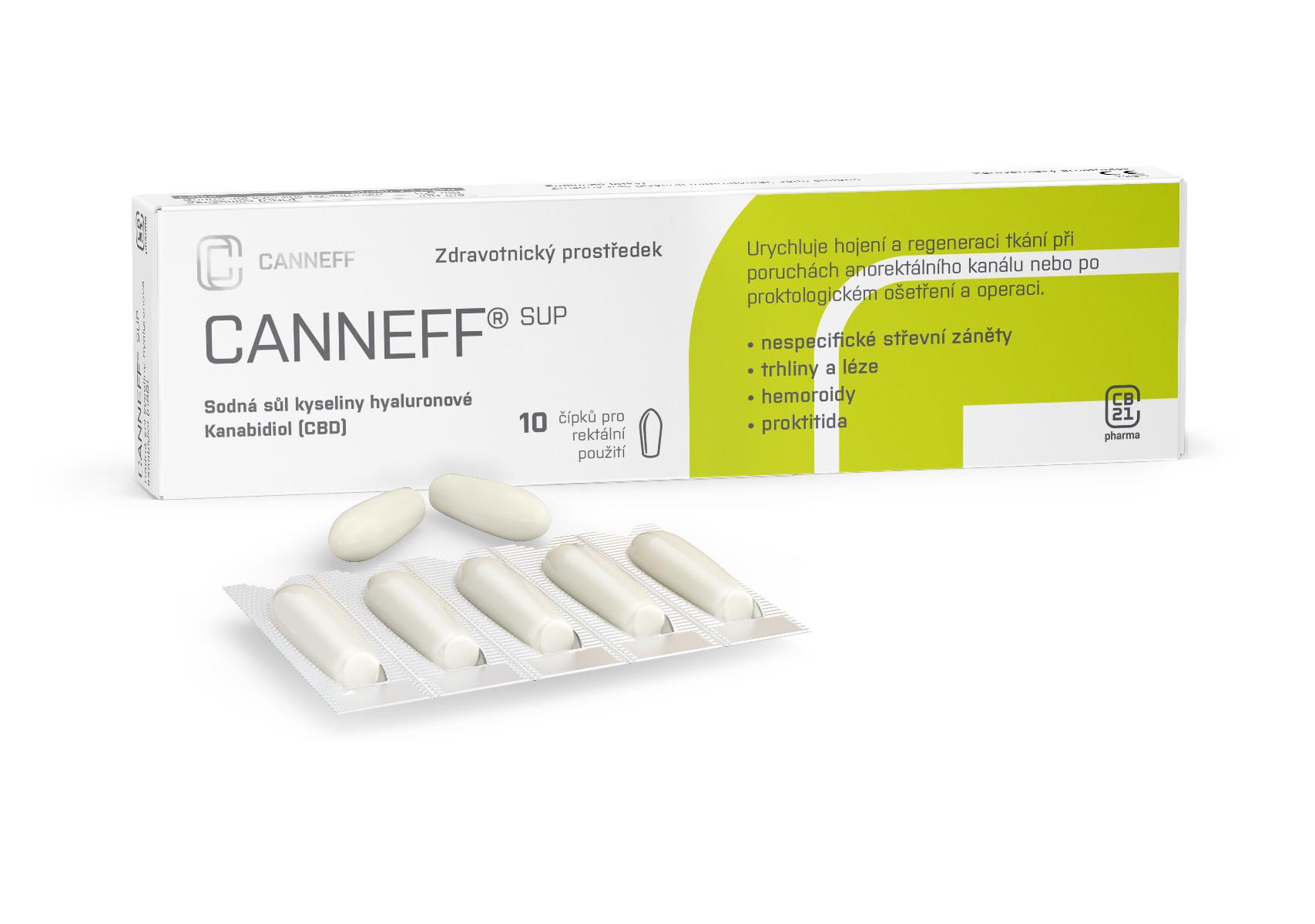 CANNEFF SUP rektální čípky 10 ks