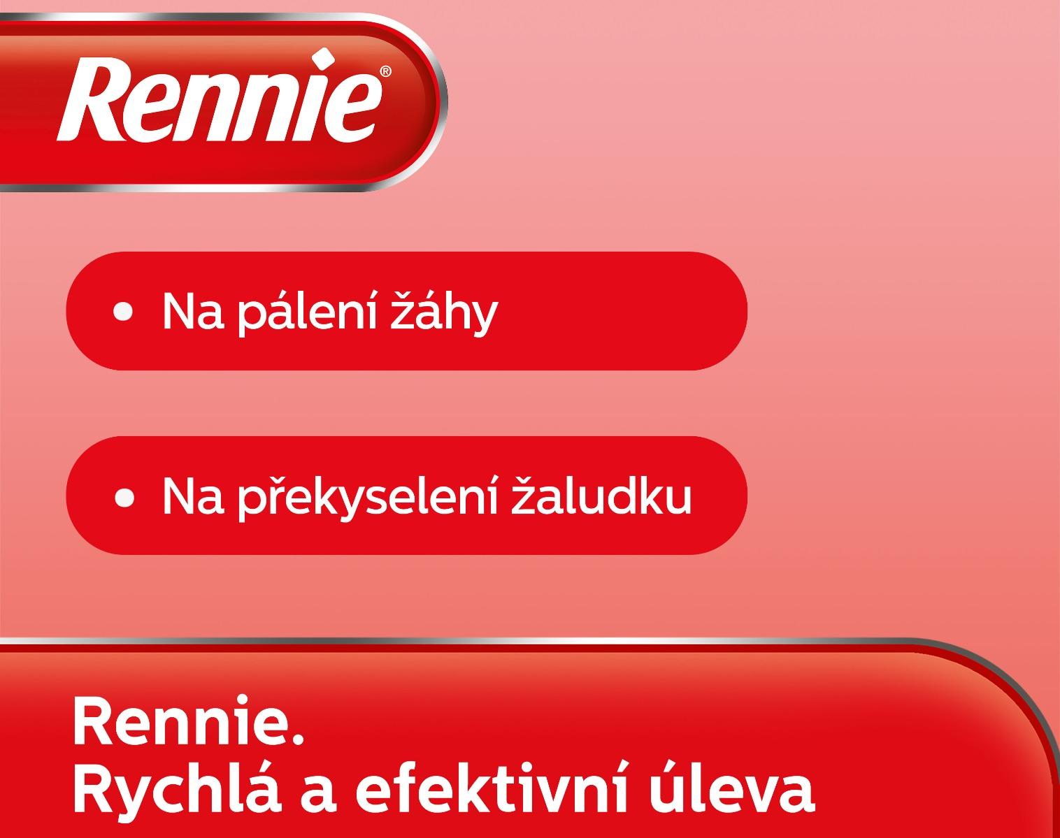 Rennie Spearmint bez cukru 36 žvýkacích tabletaaaa