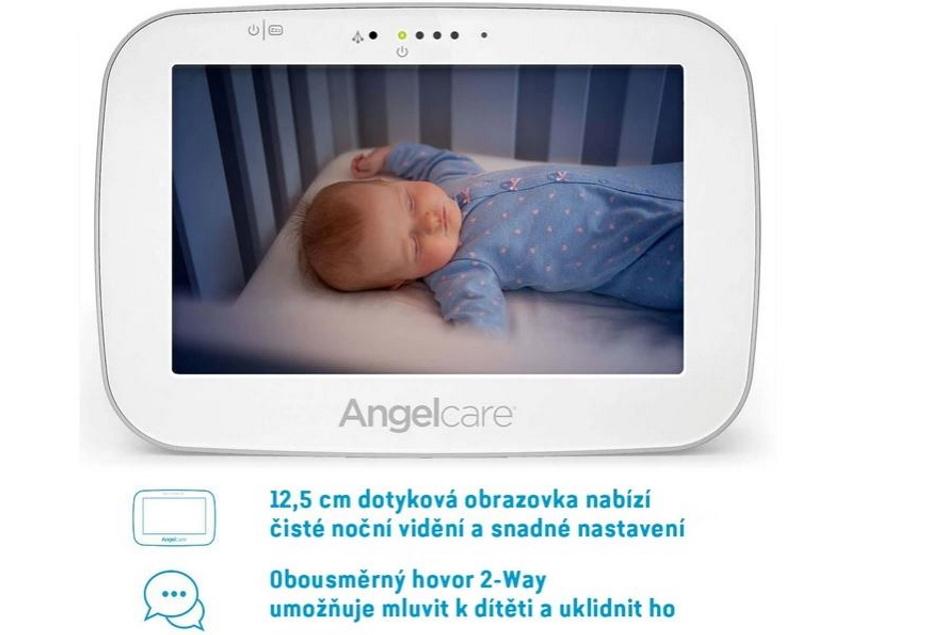 Angelcare AC527 Monitor pohybu dechu a elektronická video chůvička3
