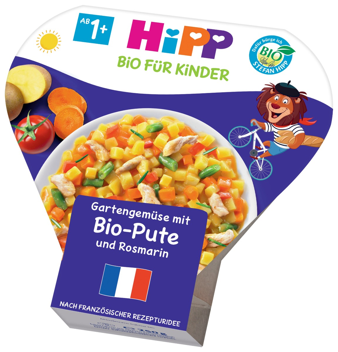 Hipp BIO Zelenina ze zahrádky s krůtím masem a rozmarýnem 250 g