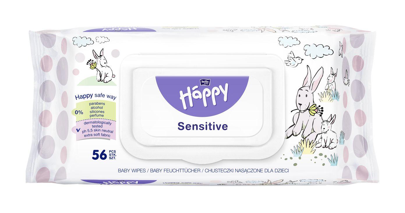 Bella Baby Happy Čisticí ubrousky Sensitive 56 ks