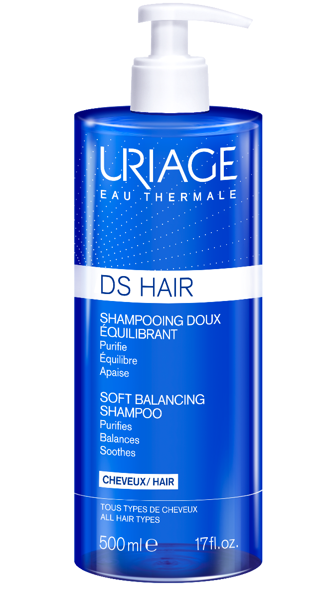 Uriage DS Hair Balancing Shampoo jemný zklidňující šampon 500 ml