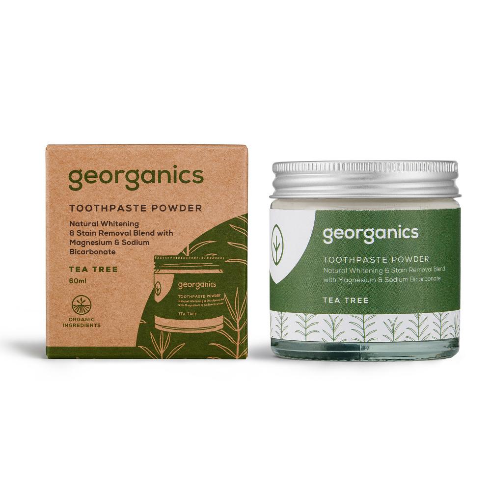 Georganics Tea Tree zubní prášek 60 ml