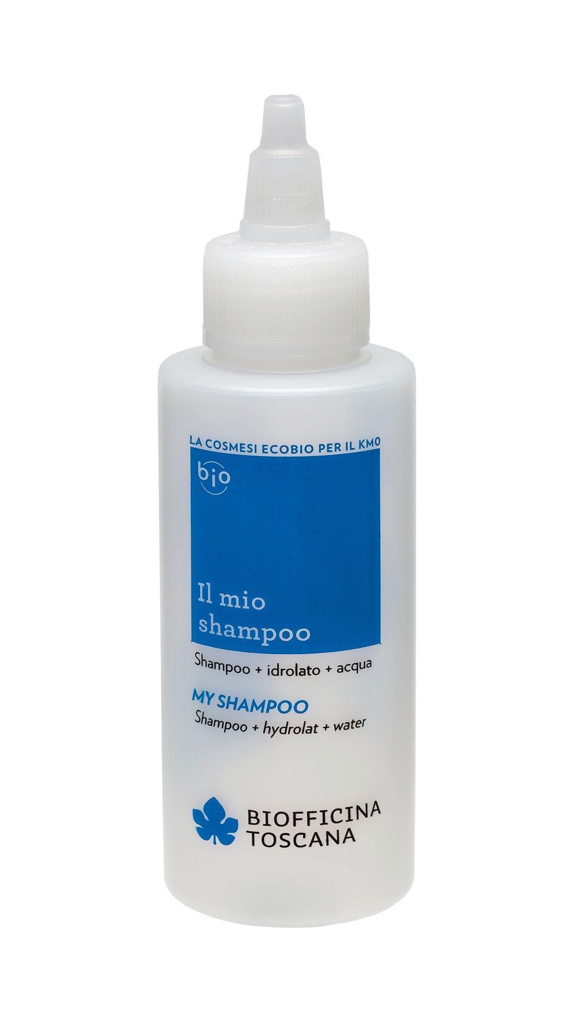 Biofficina Toscana My shampoo Modrá lahvička pro přípravu vlastního šampónu 100 ml
