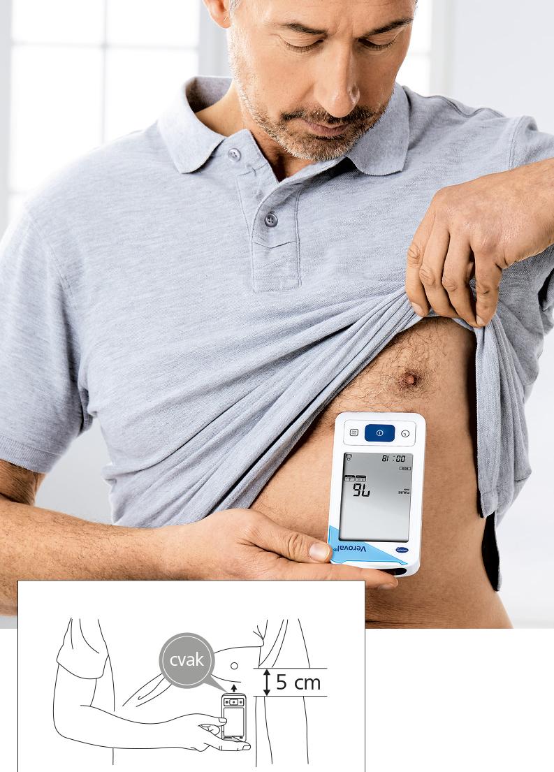 Veroval digitální tlakoměr s EKGa