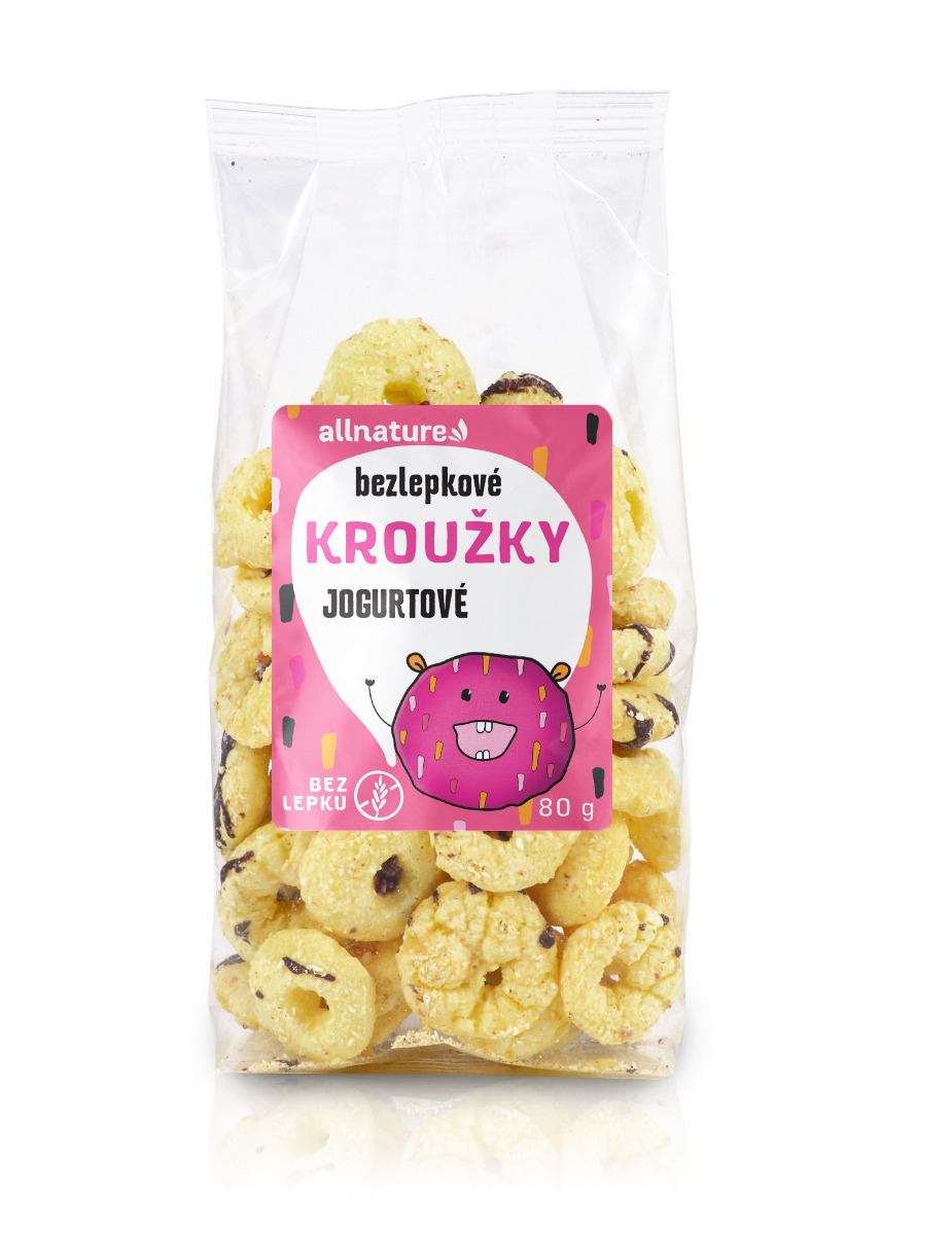 E-shop Allnature Kroužky jogurtové 80 g