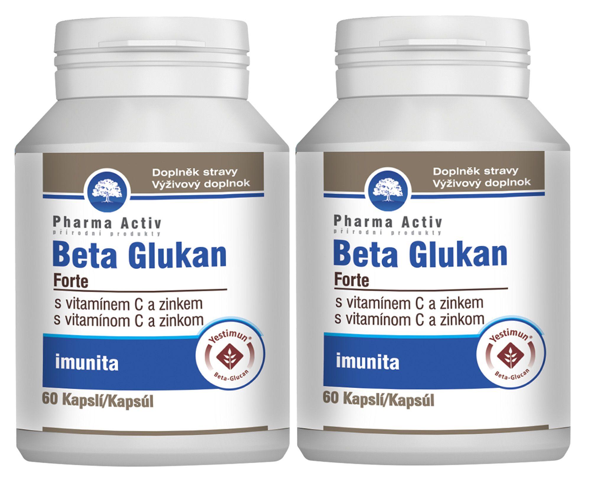 Pharma Activ Beta Glukan Forte vitamín C a zinek 60 kapslí 1+1
