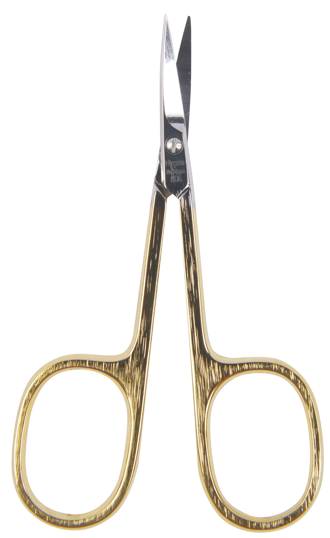 Nippes Solingen Nůžky na kůži zahnuté zlacené 9 cm 1 ks