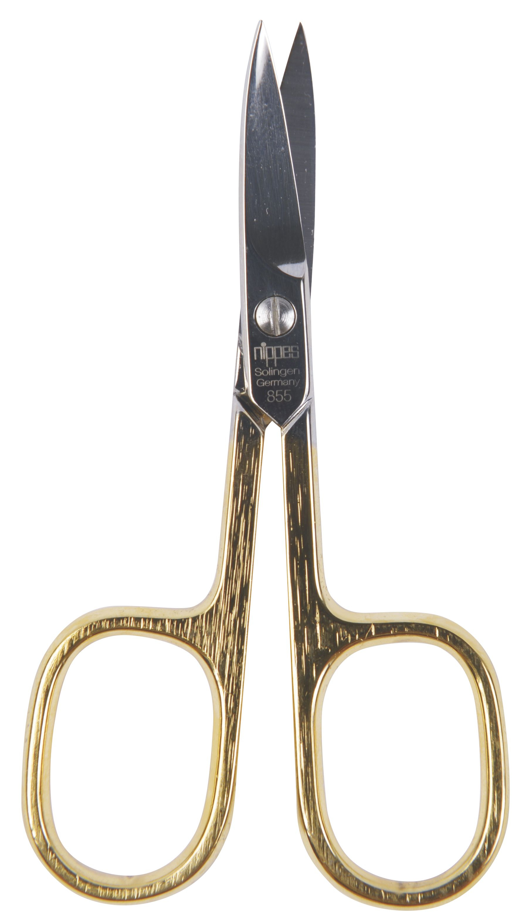 Nippes Solingen Nůžky na nehty zahnuté zlacené 9 cm 1 ks