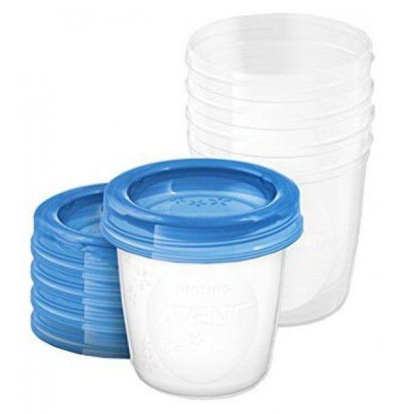 E-shop Avent VIA pohárky s víčkem 180 ml 5 ks