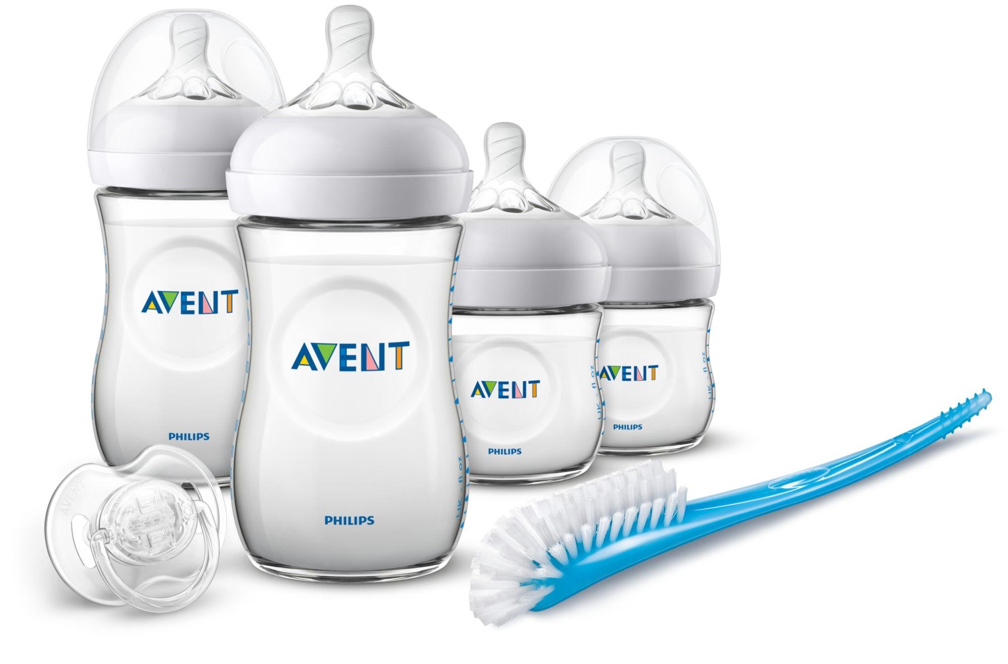 Avent Startovací sada Natural 4 lahve + kartáč + šidítko