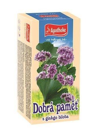 Apotheke Dobrá paměť s ginkgo biloba porcovaný čaj 20x1,5 g