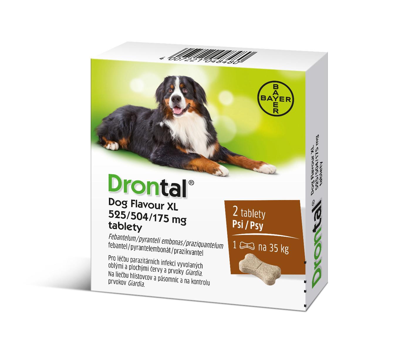 E-shop Drontal Dog Flavour XL 525/504/175 mg 2 tablety