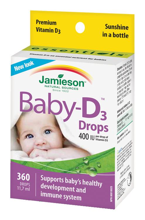 Jamieson Baby-D3 Vitamín D3 400 IU kapky 11,7 ml
