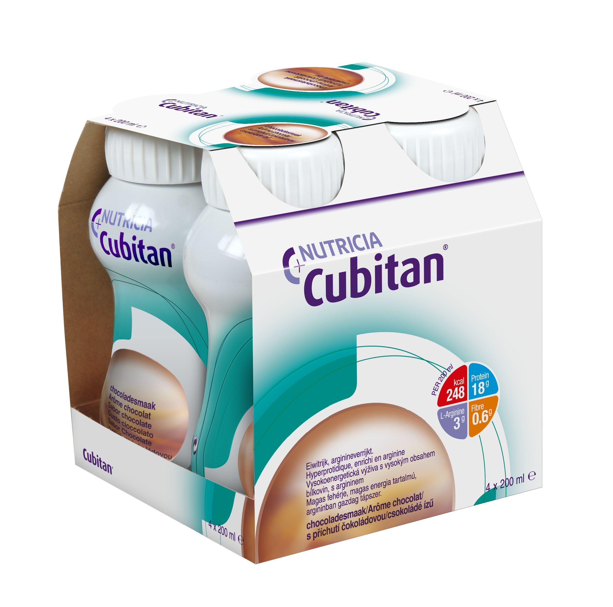 Cubitan S příchutí čokoládovou 4x200ml 4x200 ml