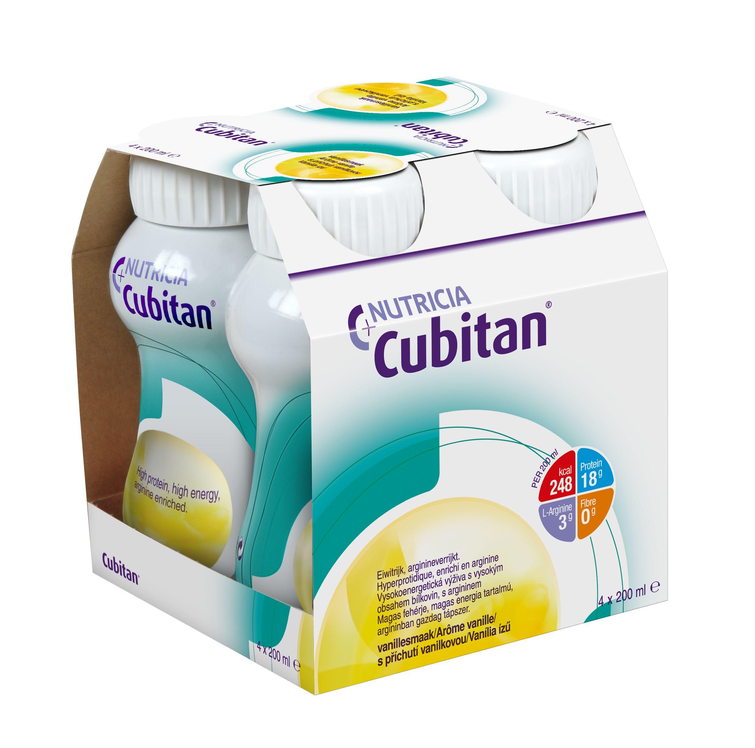 Cubitan S příchutí vanilkovou 4x200 ml