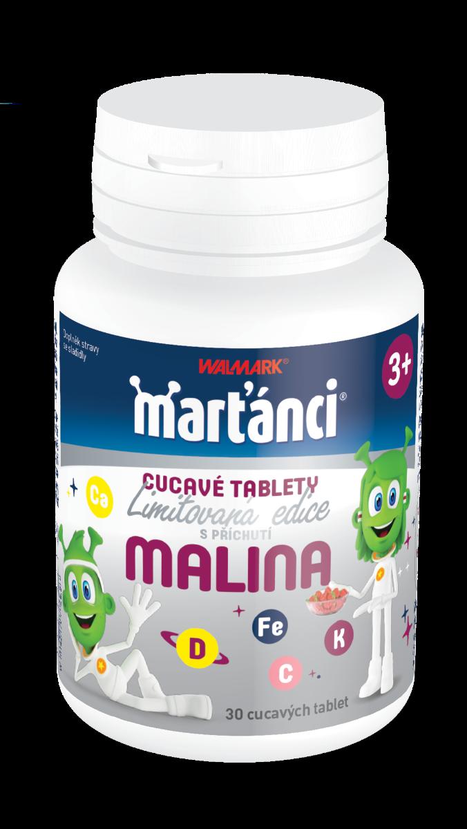 Marťánci Cucavé tablety malina 30 tablet
