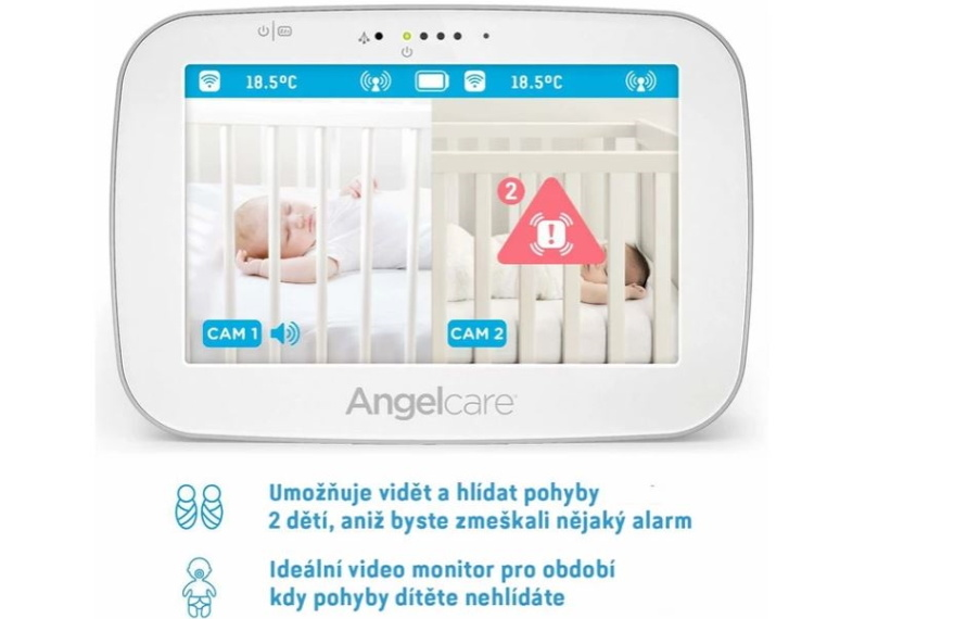 Angelcare AC527 Monitor pohybu dechu a elektronická video chůvička3aa
