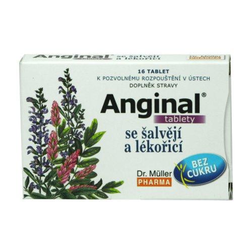 Anginal se šalvějí a lékořicí 16 tablet