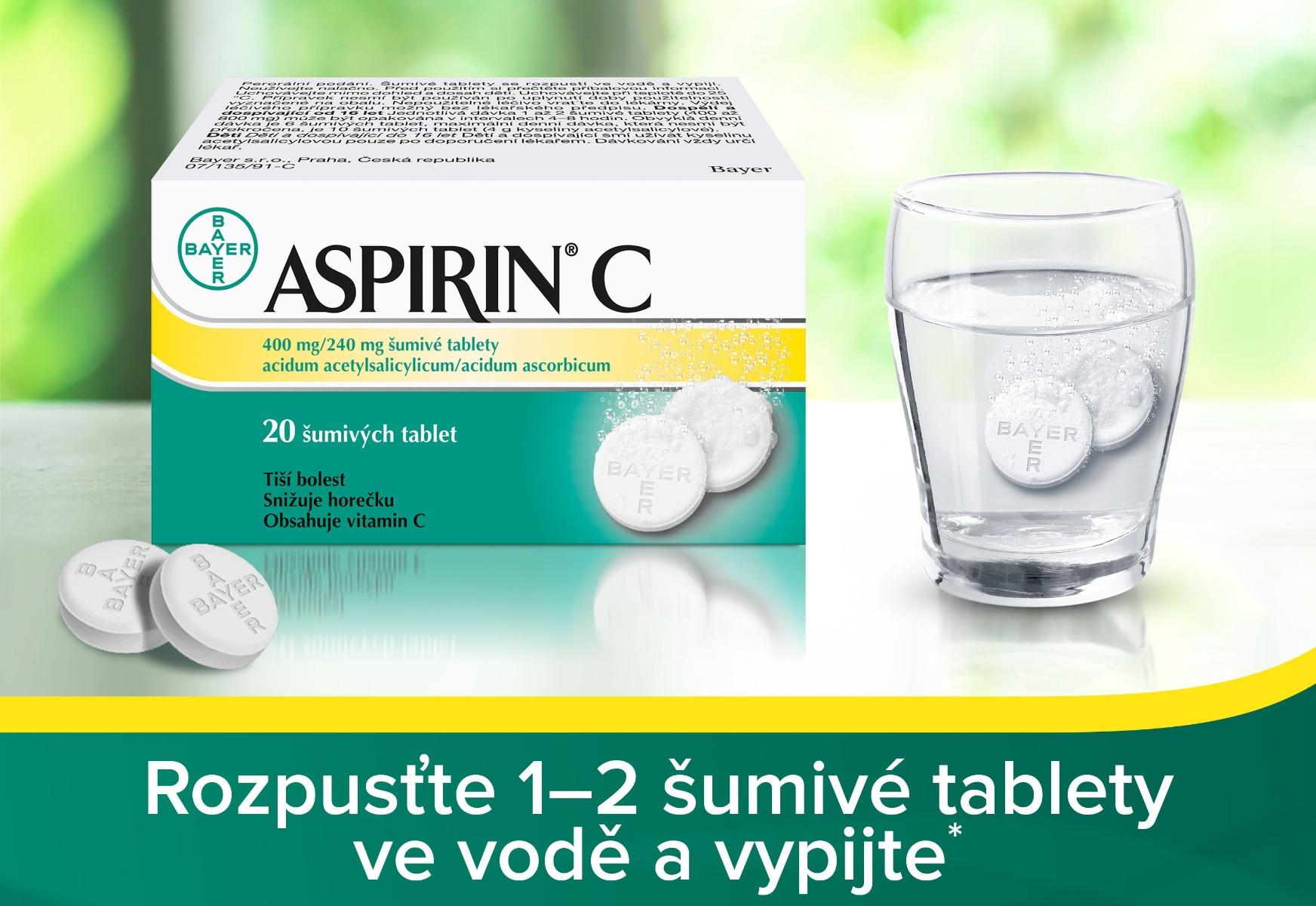 Aspirin C 10 šumivých tabletas