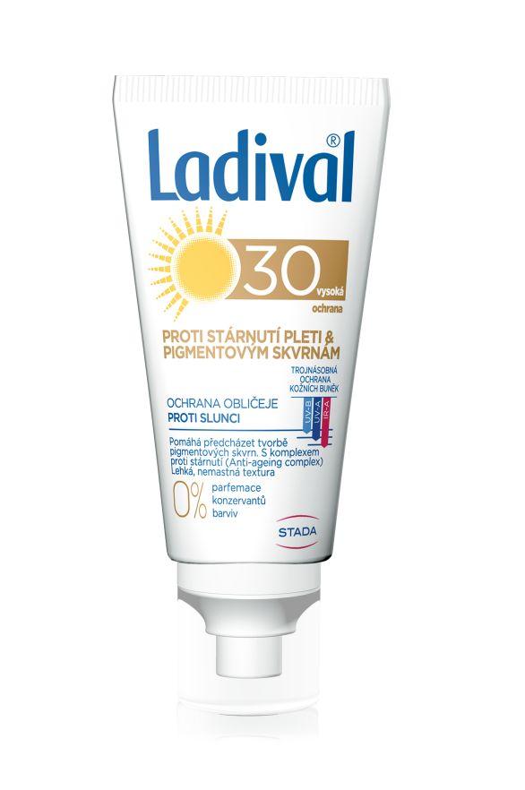 Ladival Proti stárnutí pleti & pigmentovým skvrnám OF30 péče o obličej 50 ml