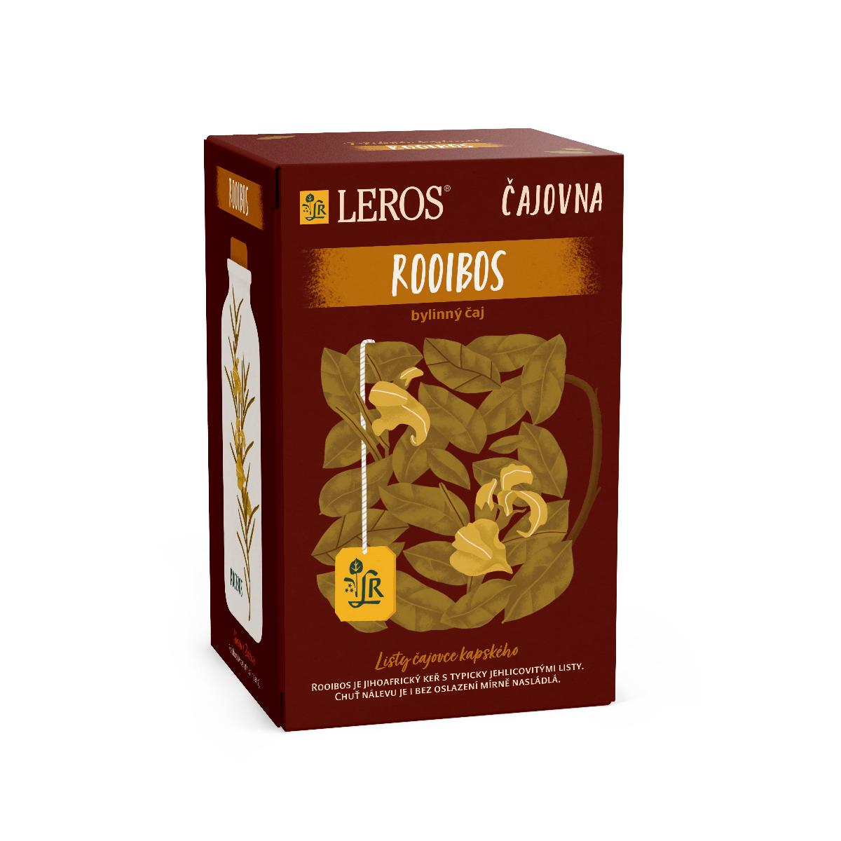 Leros Čajovna Rooibos porcovaný čaj 20x2 g