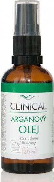 E-shop Clinical Arganový olej lisovaný za studena 20 ml