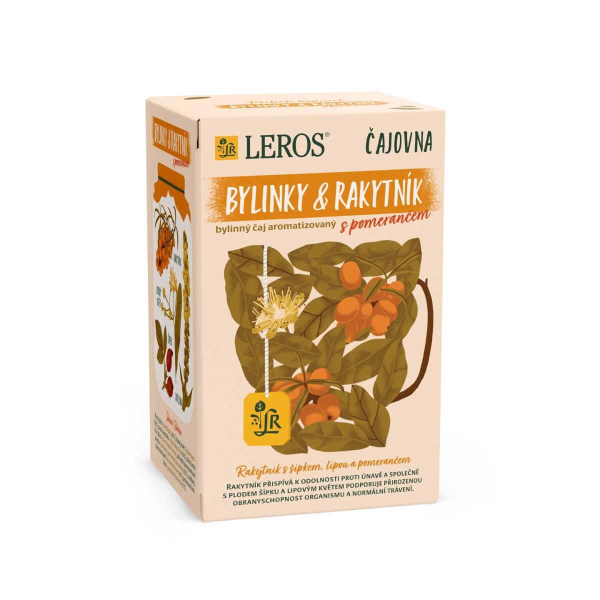 Leros Čajovna Bylinky a Rakytník s pomerančem porcovaný čaj 20x2 g