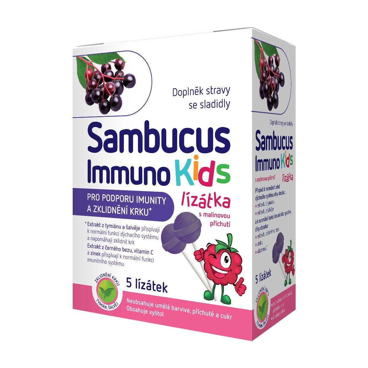 Sambucus Immuno Kids lízátka 5 ks