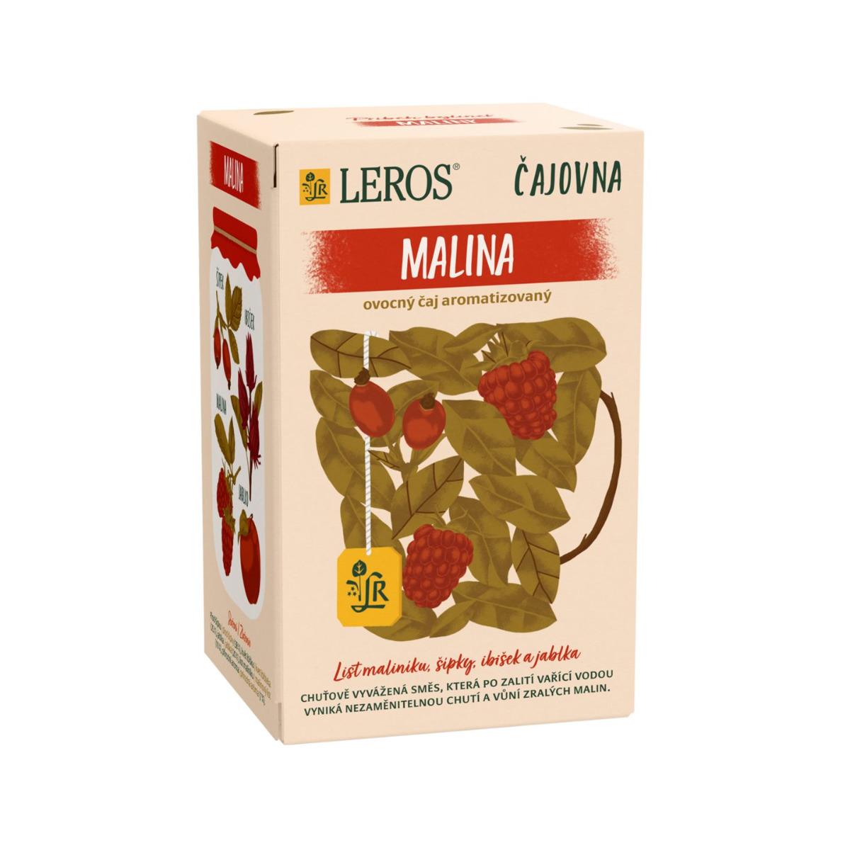 Leros Čajovna Malina porcovaný čaj 20x2 g